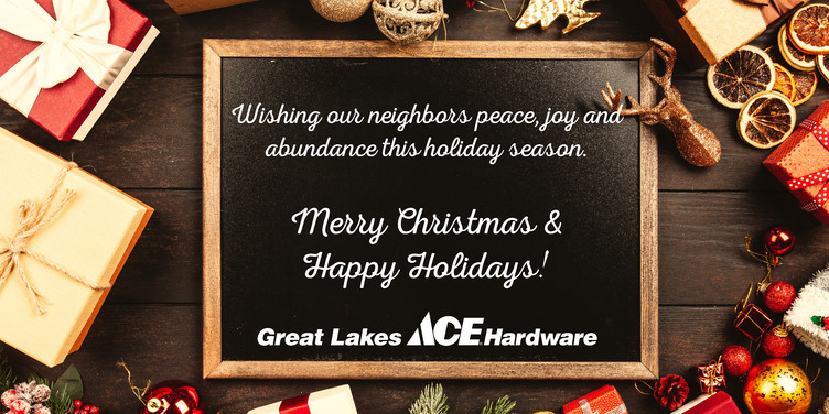 Merry Christmas - Great Lakes Ace Hardware Store