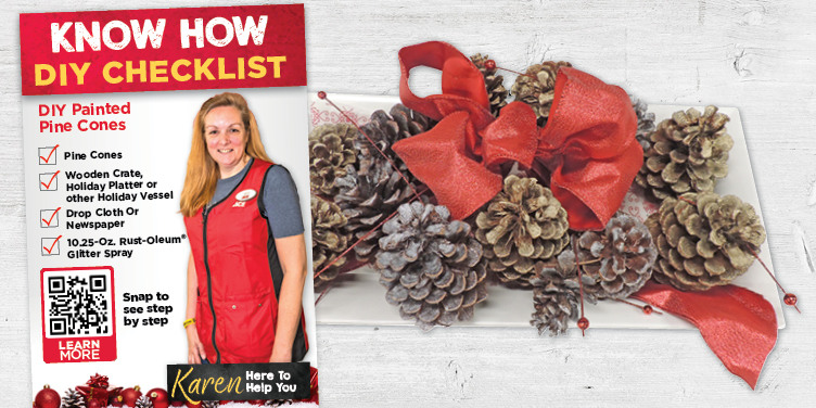 DIY Painted Pine Cones - Great Lakes Ace Hardware Store