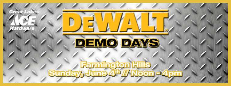DeWalt Demo Days! - Great Lakes Ace Hardware Store