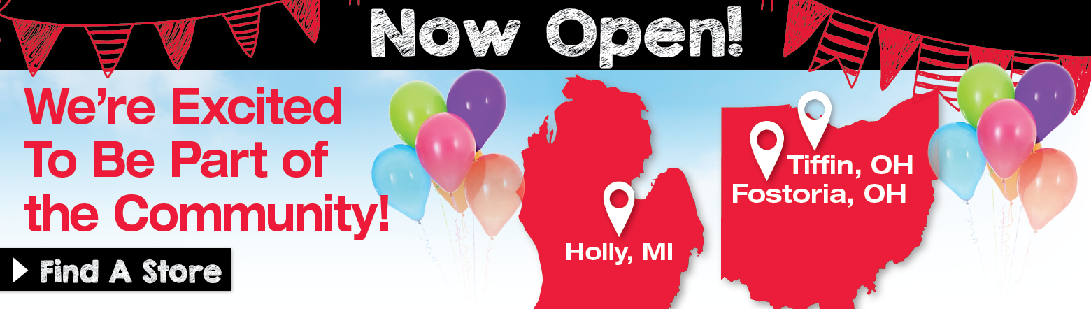 Now Open Stores Banner