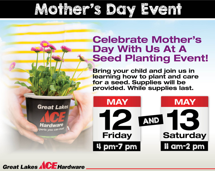 Mothers Day Seed Planting Event - Great Lakes Ace Hardware Store