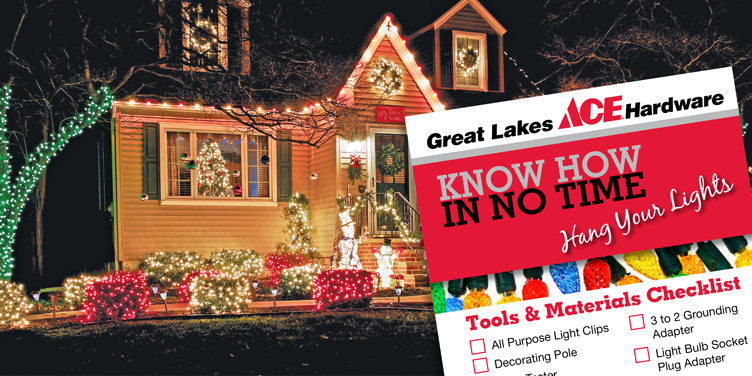 hang your lights great lakes ace hardware store