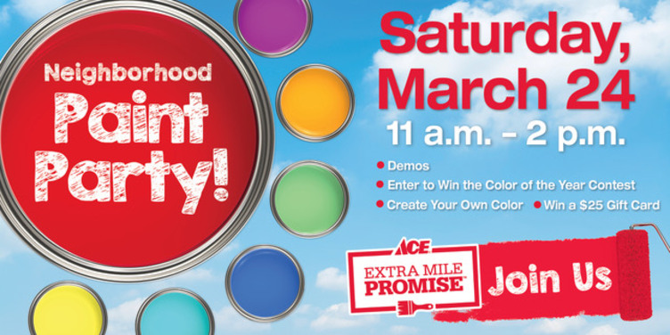 Neighborhood Paint Party - Great Lakes Ace Hardware Store