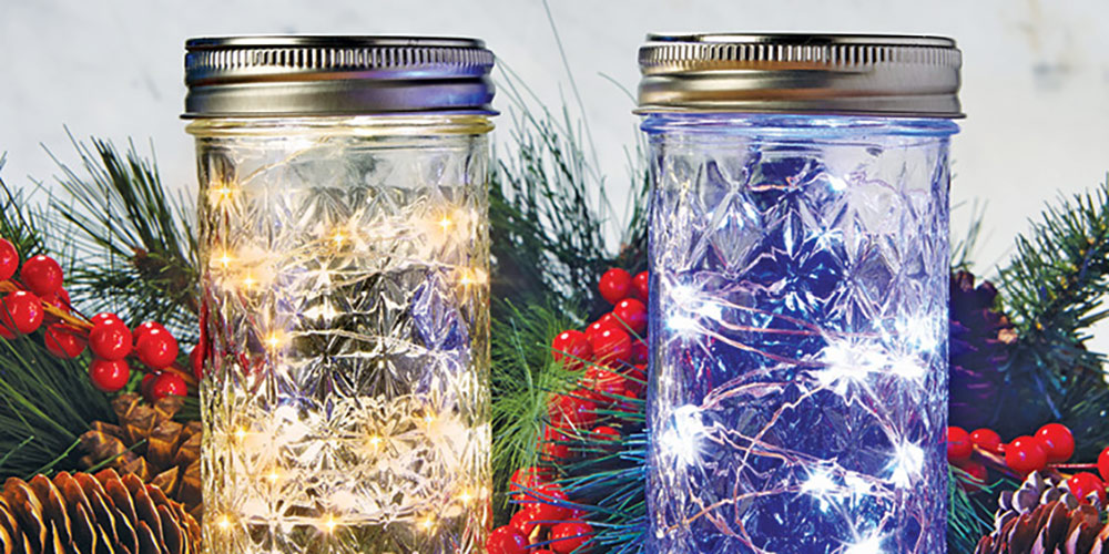 LED Mason Jar Christmas Lights - Great Lakes Ace Hardware Store