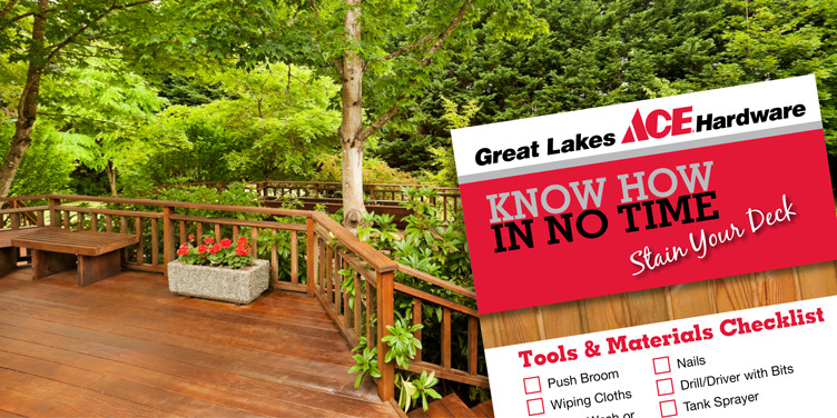 Stain Your Deck - Great Lakes Ace Hardware Store