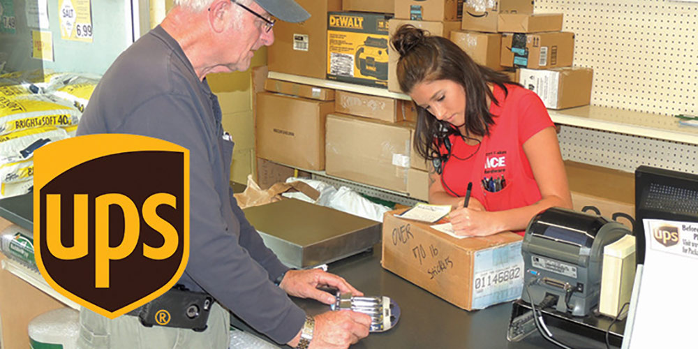 UPS Shipping Center - Great Lakes Ace Hardware Store