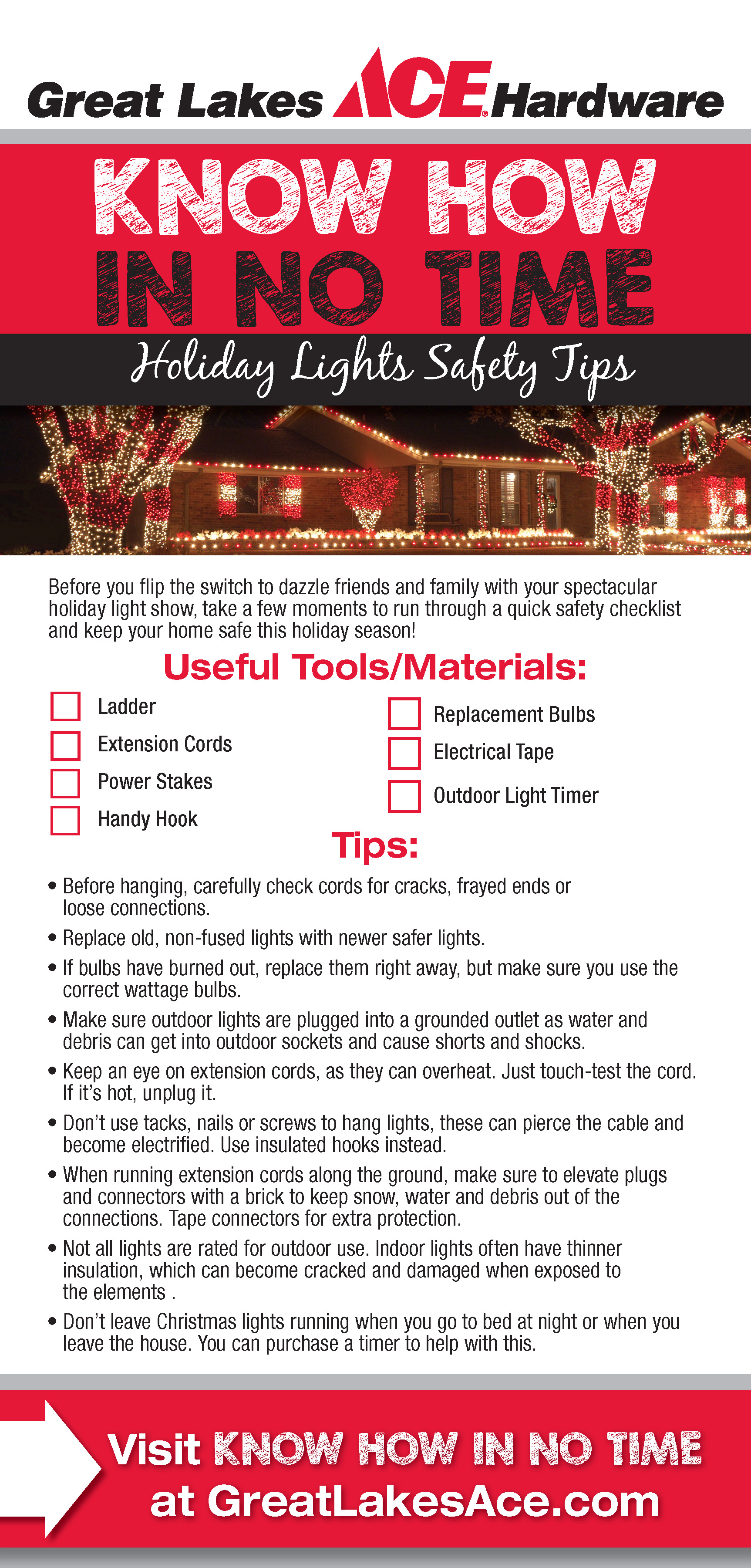 Holiday Lights Safety Tips