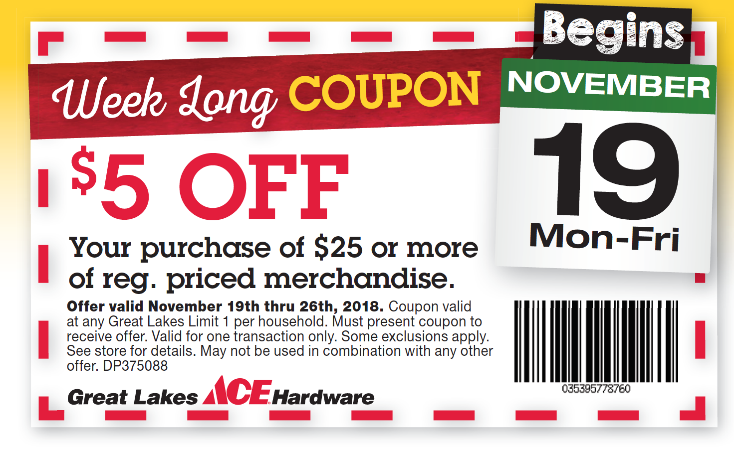 Black Friday Coupons Great Lakes Ace Hardware Store